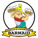 WORLDS GREATEST BARMAID CARTOON
