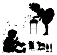 Music and Toys Silhouette