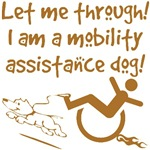 Funny Mobility Assistance Dog Shirts