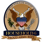 T-shirts, mugs, hats and stickers with text - Household 6 Don't confuse your rank with my authority!