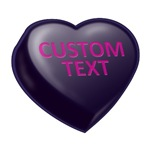 Dark Licorice Custom Candy Heart