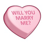 WILL YOU MARRY ME? - Candy Heart