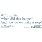 We're Adults - Grey's Anatomy Quote