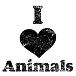 Vintage I Heart Animals
