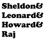 Sheldon, Leonard, Howard and Raj 1a