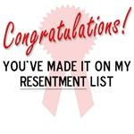 Resentment List