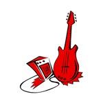 red guitar n amp music design