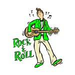 rock n roll guitarist green