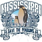 Save the Penguins Mississippi T-Shirts and Gifts