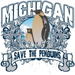 Save the Penguins Michigan T-Shirts and Gifts