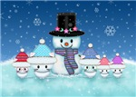 Christmas Snowman and Cute Kittens