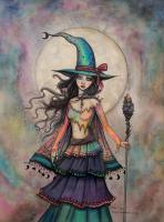 Fire Opal Witch Fantasy Art