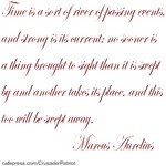 Time is a River--Roman Quote
