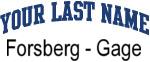 Blue Surname Design Forsberg - Gage