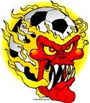Flaming Soccer Ball Head
