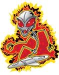 Alien Robot Hoverboarder