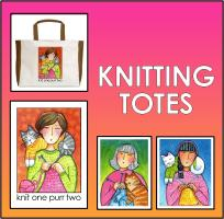 TOTES AND MUGS FOR KNITTERS