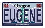 Oregon License Plate - EUGENE