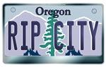 Oregon License Plate [RIP CITY]