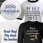 Handler / Trainer golf shirt, long and short tee .