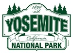 Yosemite National Park Green Mountain Sign Design