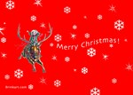 Flying Holiday Christmas Elf by Marc Brinkerhoff