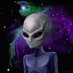 Alien - Purple Nebula by Marc Brinkerhoff