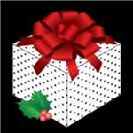 Polka Dot Gift, on Black