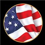 Flag Medallion on Black