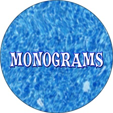 <b>MONOGRAM INITIALS</b>