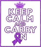 Pancreatic Cancer Keep Calm Carry On Shirts