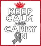 Brain Cancer Keep Calm Carry On Shirts