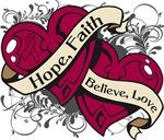 Multiple Myeloma Hope Faith Dual Hearts Shirts