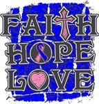 Male Breast Cancer Faith Hope Love Shirts