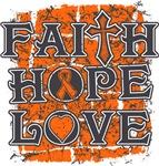Kidney Cancer Faith Hope Love Shirts