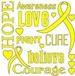 Testicular Cancer Hope Words Shirts
