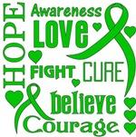Kidney Cancer Hope Words Shirts