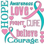 Hereditary Breast Cancer Hope Words Shirts