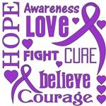 Epilepsy Hope Words Shirts