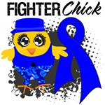 Colon Cancer Fighter Chick Shirts