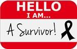 Skin Cancer Hello I'm A Survivor Shirts