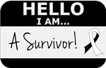 Carcinoid Cancer Hello I'm A Survivor Shirts