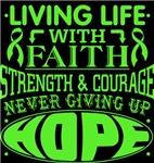 Lymphoma Living Life With Faith Shirts