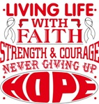 Lung Cancer Living Life With Faith Shirts