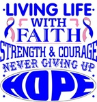 Male Breast Cancer Living Life With Faith Shirts