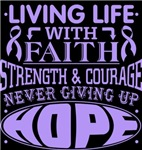 General Cancer Living Life With Faith Shirts