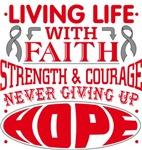 Brain Cancer Living Life With Faith Shirts