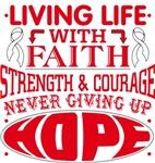 Bone Cancer Living Life With Faith Shirts
