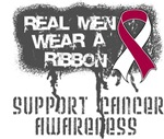 Throat Cancer Real Men Wear a Ribbon Shirts