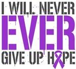 Fibromyalgia I Will Never Give Up Hope Shirts